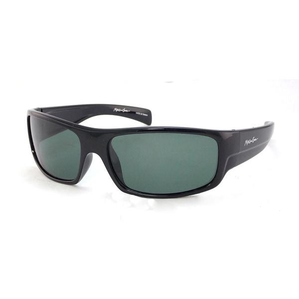 3Includes Shiny Lens PouchPolarized Mens Maui Wrap Plastic Ms004 And Soft Sons Sunglasses Black cFT3lK1J